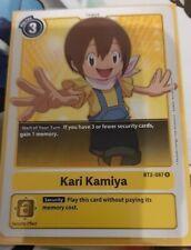 Kari Kamiya BT2-087 Digimon Card Game Rare Englisch