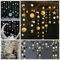 4M Stars Glitter Paper Garland Bunting Wedding Party Birthday Hanging Decoration