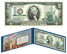 OFFICIAL World Trade Center 9/11 $2 U.S. Bill *10th Anniversary* - GREAT LOW $