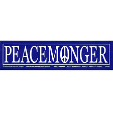 S008 - Peacemonger Large Bumper Sticker