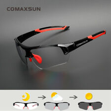 Photochromic Cycling Glasses Discoloration Bike Goggles Sports Eyewear US