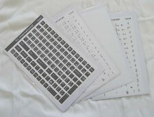 Chinese Keyboard Sticker - Black / White / Transparent 108 keys high quality