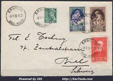 FRANCE N° 411+436+440+441 SUR LETTRE POUR LA SUISSE DE ERSTEIN DU 03/07/1939