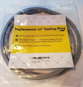 "Fagor Pressure Cooker Replacement 10"" Sealing Ring (2 pack)"