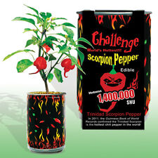 Trinidad Scorpion Pepper In A Can Hot Chili Plant Home Grow Kit Novelty Fun Gift