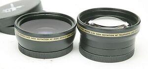 Xit PRO Series 0,43x & 2,2x Wide & Tele High Definition (HD) AF Lenses W/ 52mm.