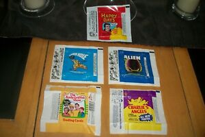 wax wrappers lot 5 total aleins black hole others rare.most thrown out...