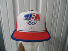 VINTAGE McDONALD'S LOS ANGELES OLYMPICS XXIII 1984 SEWN MESH TRUCKER HAT CAP