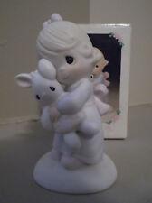 "1978 Precious Moments Figurine ""Jesus Loves Me"" #E-1372/G"