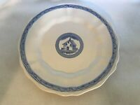 "VIETRI ITALY FIESOLE DINNER PLATE 10.5"" STALLA RUSTIC HOUSE COUNTRY BLUE WHITE"