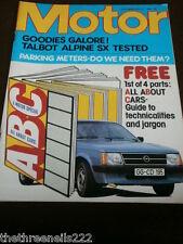 MOTOR MAGAZINE - PARKING METERS - APRIL 26 1980