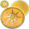 100 Finds Geo-Milestones Geocoin And Pin Set - Award Your Geocaching Success