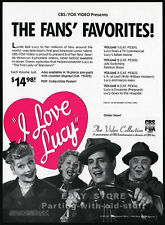 I LOVE LUCY Collection__Original 1989 video Trade AD / promo advertisement