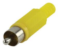 10x Cinch Stecker Gelb mit Knickschutz zum Löten / 10 Stk Pro Kauf u. Packung