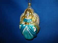 Angel Ornament Blue German Glass Old World Christmas 01092B 8