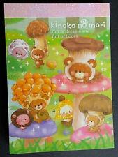 RARE Crux Kimono no Mori Mushrooms Woodland Kawaii Mini Memo pad Stationery