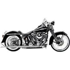 Samson Chrome True Dual Exhaust 28.5 Longtail Fishtail Mufflers Harley Softail