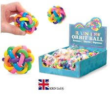 RAINBOW ORBIT BALL Fiddle ADHD Stress Relief Sensory Toy Kids Birthday Gift UK