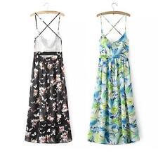 3/4 Sleeve Floral Regular Size Maxi Dresses for Women
