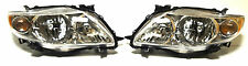 Toyota Corolla USA 09-13Left Right Front head lamp lights for CE/LE model Chrome