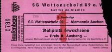 Ticket II. BL 89/90 SG Wattenscheid 09 - Alemannia Aachen, 14.10.1989