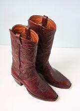 Vintage Men's Leather Cowboy Boots, R.J. Foley Size 7 1/2D
