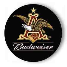"BUDWEISER EAGLE - ROUND METAL SIGN - 7"""