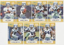 (x4) 2008 Super Bowl 43 DALLAS COWBOYS Team Set lot Rare Variations Romo Witten+