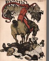 1900 Jugend March 4 German Art Nouveau Cover - Jester gets the last laugh - Jank