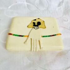 Art Deco Cream Bakelite Cigarette Case with Hand Clasp circa 1920