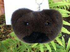 Michael Kors Genuine Fur Teddy Bear Pom Pom Fob