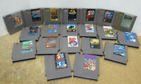 Lot of 20 Assorted Nintendo Entertainment System NES Video Game Cartridges