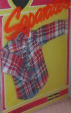 Vintage Pedigree Sindy Packet 1981 Separates  Lumberjack Shirt NEW 44033