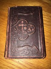 Antique 1901 JESUS MY LOVE Prayer Book ILLUSTRATED Mini Pocket Embossed Bible