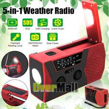 Emergency Survival Solar Hand Crank Weather AM/FM/NOAA Radio SOS Power Bank AAA+