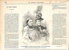 Reine Pomaré de Tahiti & Ariʻifaaite son Mari Photo de Nadar GRAVURE 1877