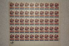 1966 5 Cent Circus (Clown) US postage stamp sheets of 50, 1961-1970, MNH