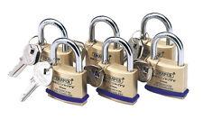 6 K/alike S/b Padlocks 40mm Draper Tools