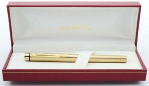 Sheaffer TARGA 1007 Fountain Pen - Geometric Gold Squares, Broad Steel Nib (New)