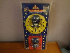 Vintage Power Rangers Snack Set Blue Ranger Billy Fun Designs 4 Kids Sealed New