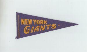 """1930's Red Ball Gum New York Giants 5.5"""" Mini Pennant Baseball B9305"""
