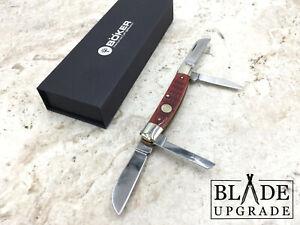 Boker Congress Folding Pocket Knife with Jigged Red Bone Handle 110745