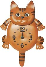 Cat Handmade Genuine Leather Cat/Animals Wall Clock *VANCA* Made in Japan #26261