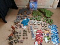 Heroscape Board Game Pieces rule book, large near to complete large bundle