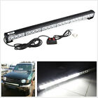 12V 24-LED All-White Car SUV Roof Emergency Strobe Light Strip 7 Flashing Modes