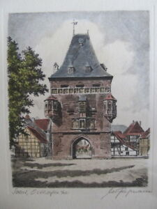 Etching,  Iconic  Osthofener in Soest  Germany . by  M fritzmann. 1800-1899
