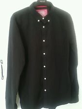 NEW SIZE M BLACK LONDON BUTTON DOWN SHIRT BY SUPERDRY RRP £44.99