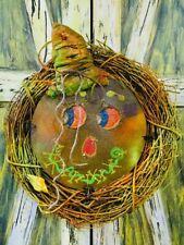 Scarecrow wreath,glow Under UV wreath,halloween scarecrow, rustic scarecrow