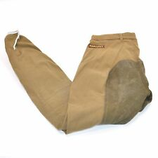 USED KENTUCKY DEERSKIN FULL SEAT BREECHES - BROWN - SZ 28 #79949
