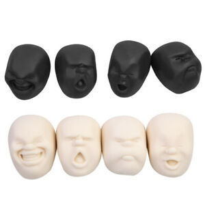 Novelty Anti Stress Ball Toy Human Face Vent Ball Doll Reduce Stress for Gift